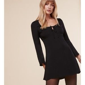 Reformation Black Mini Dress
